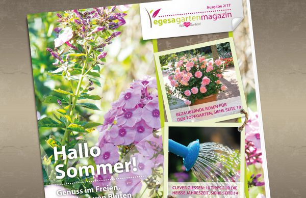 Gartenmagazin - Hallo Sommer. Genuss im Freien, umrahmt von Blüten